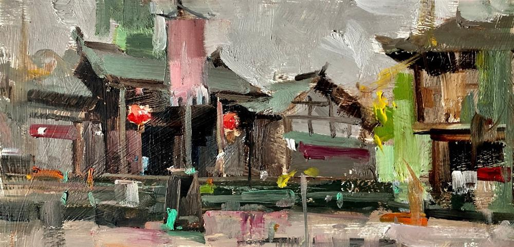"""""Plein Air at Shangli 02"" original fine art by Qiang Huang"