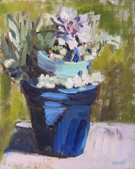 """Succulent Pot"" original fine art by Naomi Bautista"