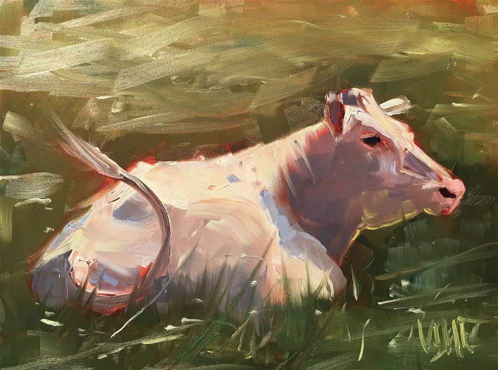 """""""266 Snow White"""" original fine art by Patty Voje"""