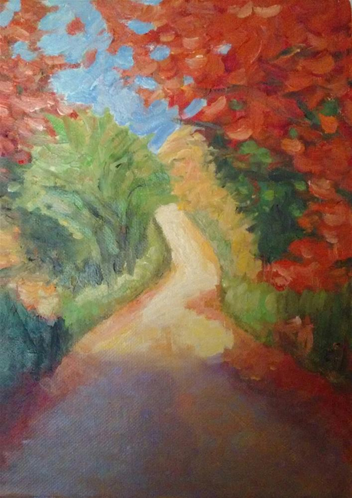 """Country Road"" original fine art by Gerri Obrecht"