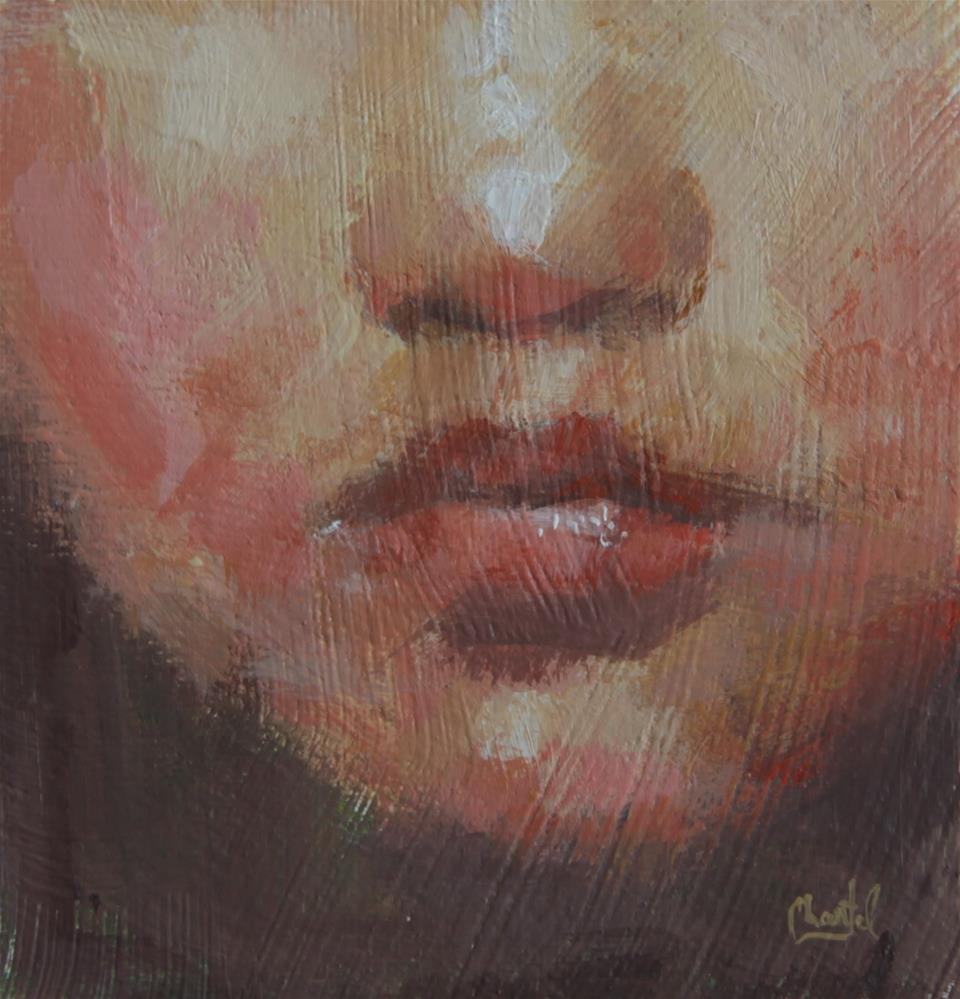 """Cherry Lips"" original fine art by Chantel Barber"