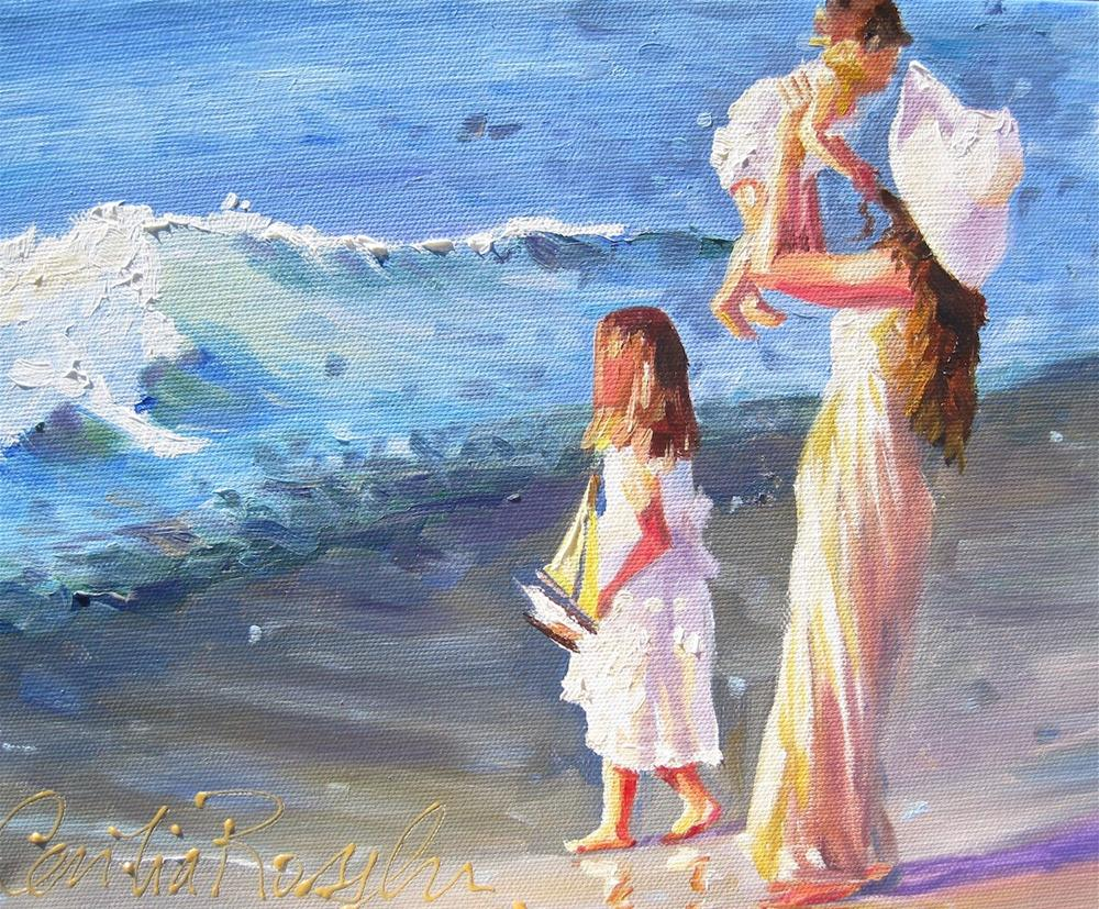 """First Sea Outing"" original fine art by Cecilia Rosslee"