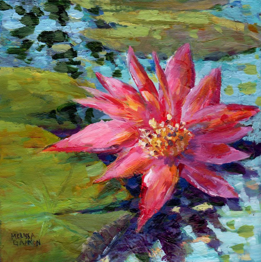 """Waterlily Star"" original fine art by Melissa Gannon"