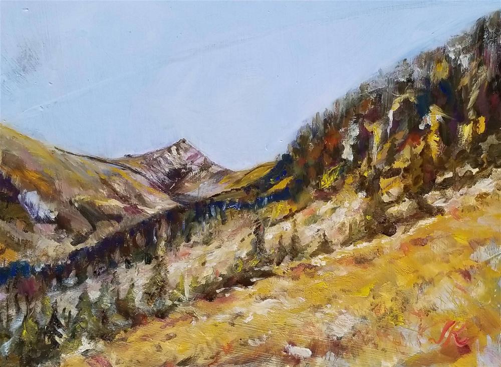 """Elevation 11,400'"" original fine art by Jean Krueger"