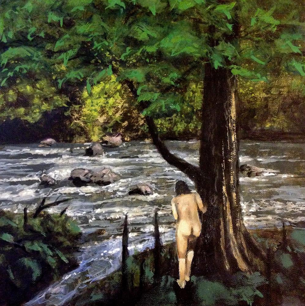 """Cypress"" original fine art by David Larson Evans"
