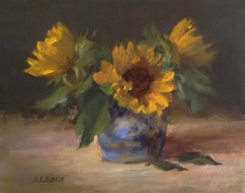 """Sunflower Study"" original fine art by Susan Leider"