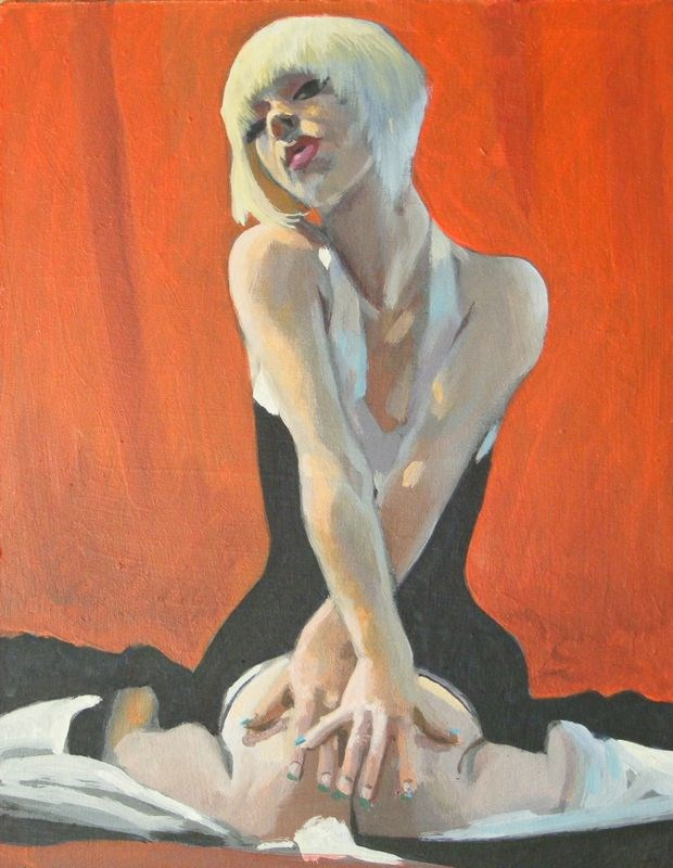 """Attitude"" original fine art by Peter Orrock"