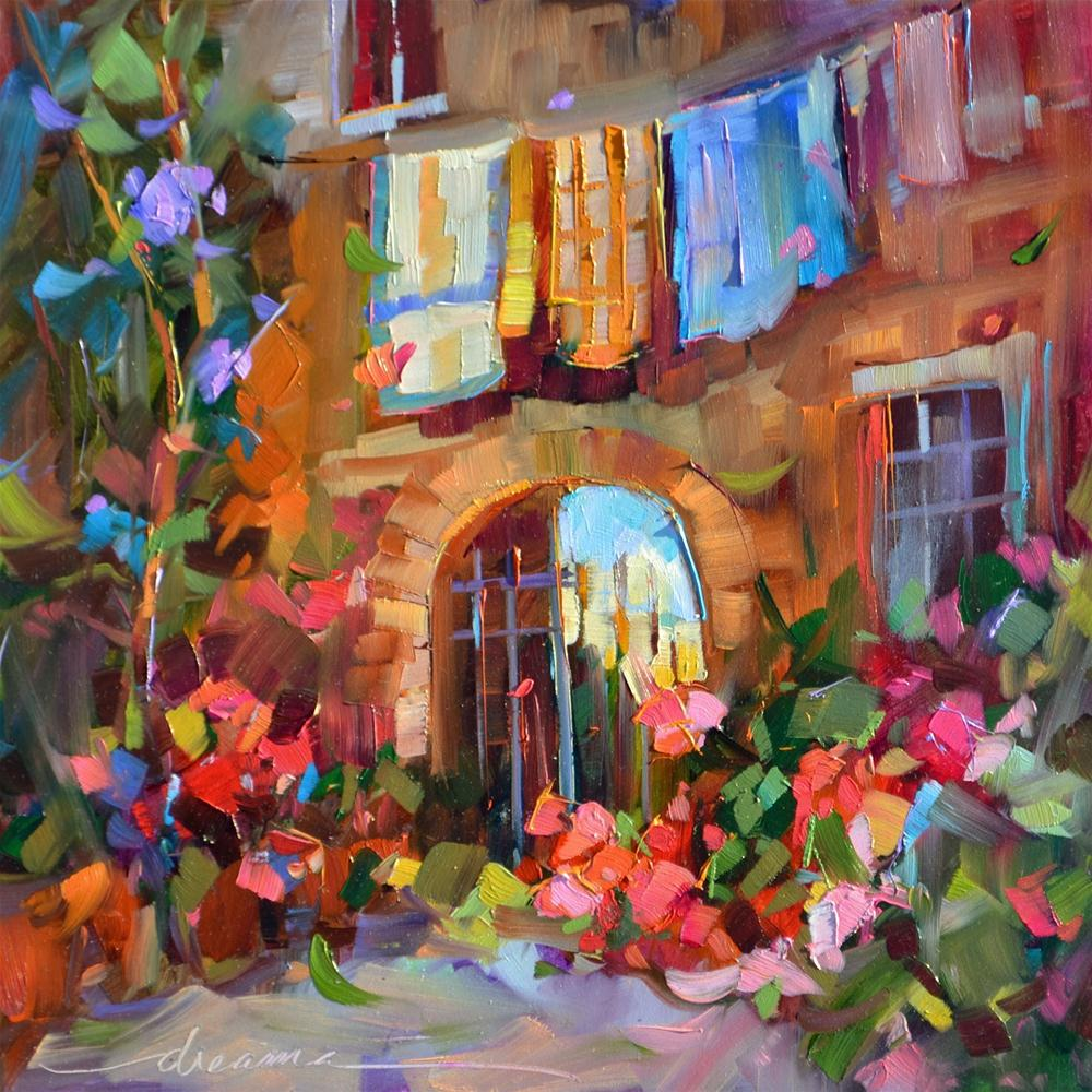 """Monday in Italy"" original fine art by Dreama Tolle Perry"