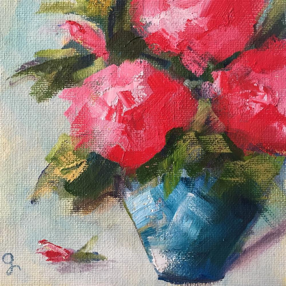 """Pink Joy"" original fine art by Gayle Lambeth"
