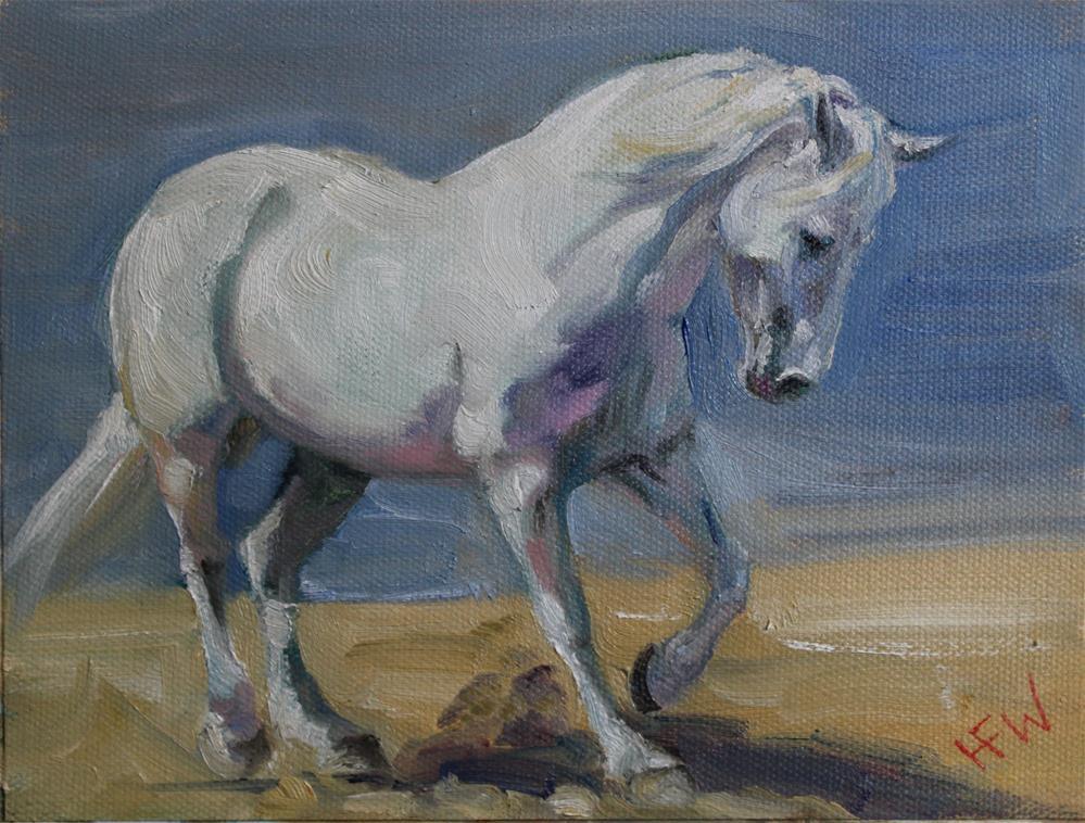 """""""White Draft"""" original fine art by H.F. Wallen"""