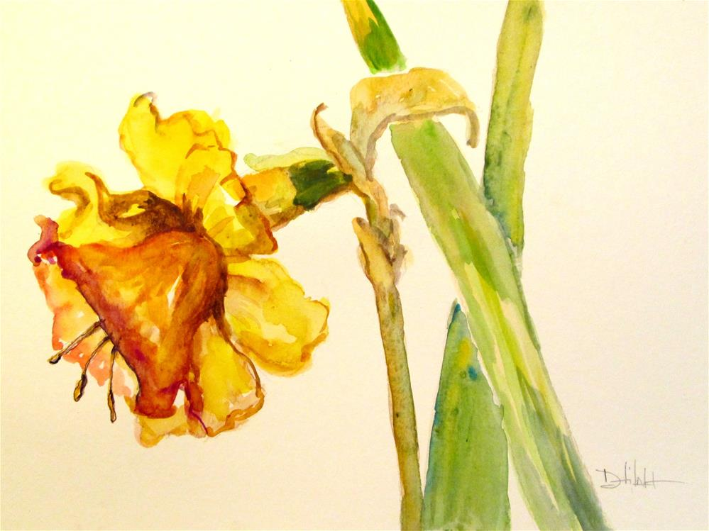 """Daffodil"" original fine art by Delilah Smith"
