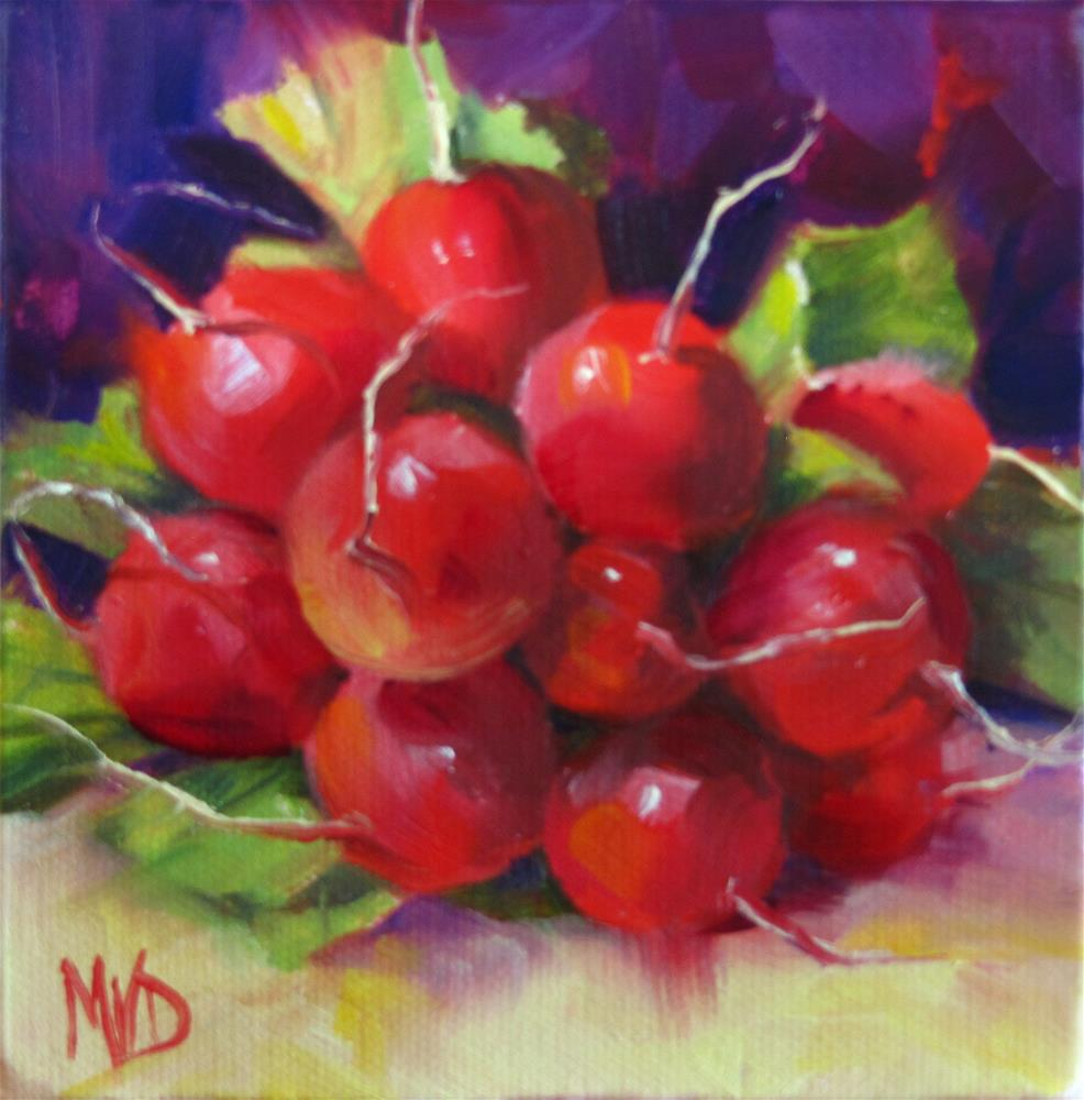 """Round & Red"" original fine art by Mary Van Deman"