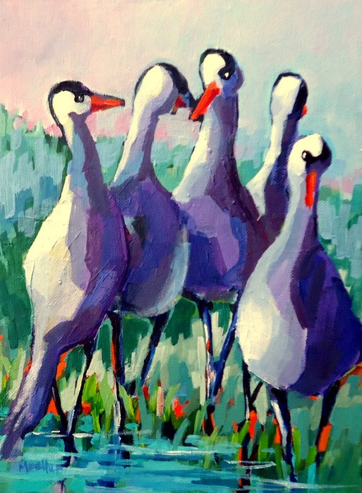 """""""That's Not What You Said Yesterday"""" original fine art by Laurie Mueller"""