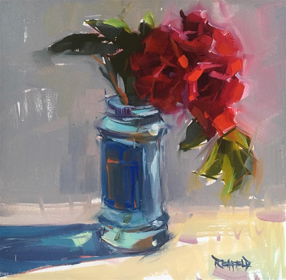 """Garden Roses"" original fine art by Cathleen Rehfeld"