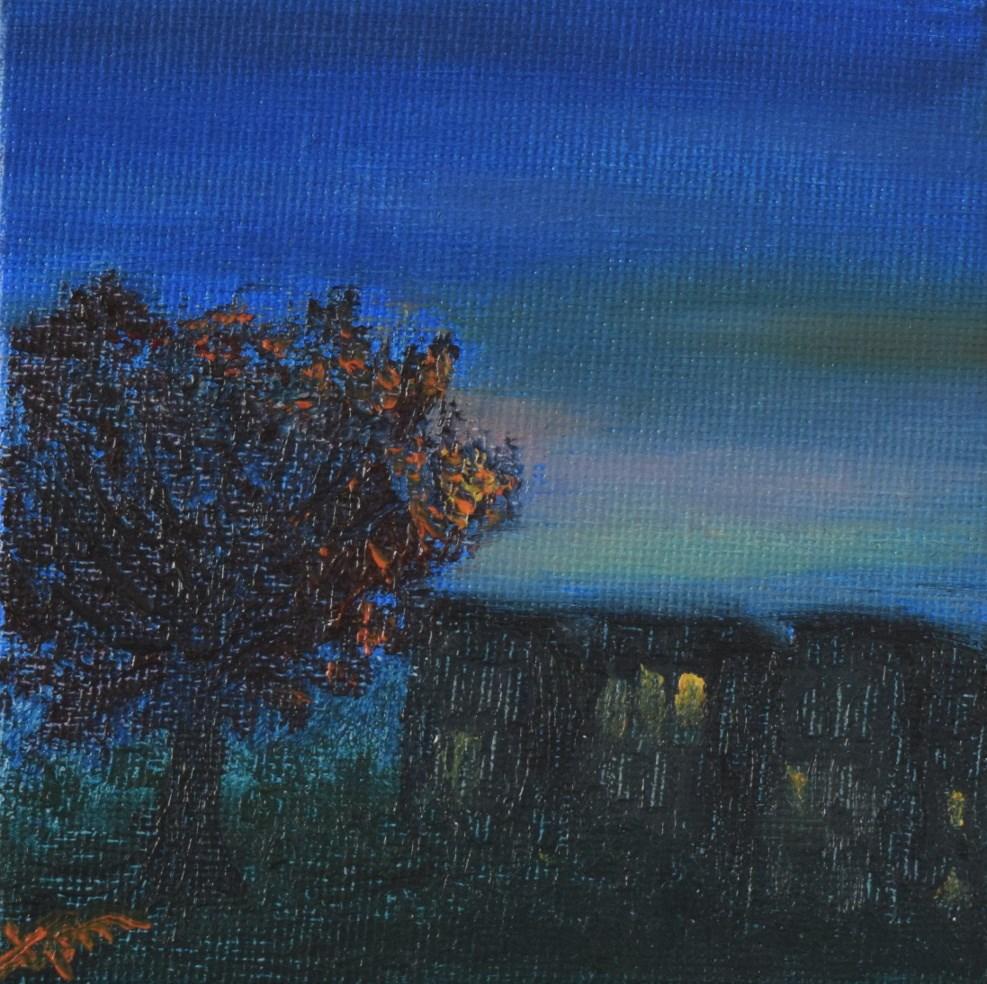 """Early Autumn Twilight"" original fine art by Tisha Mark"