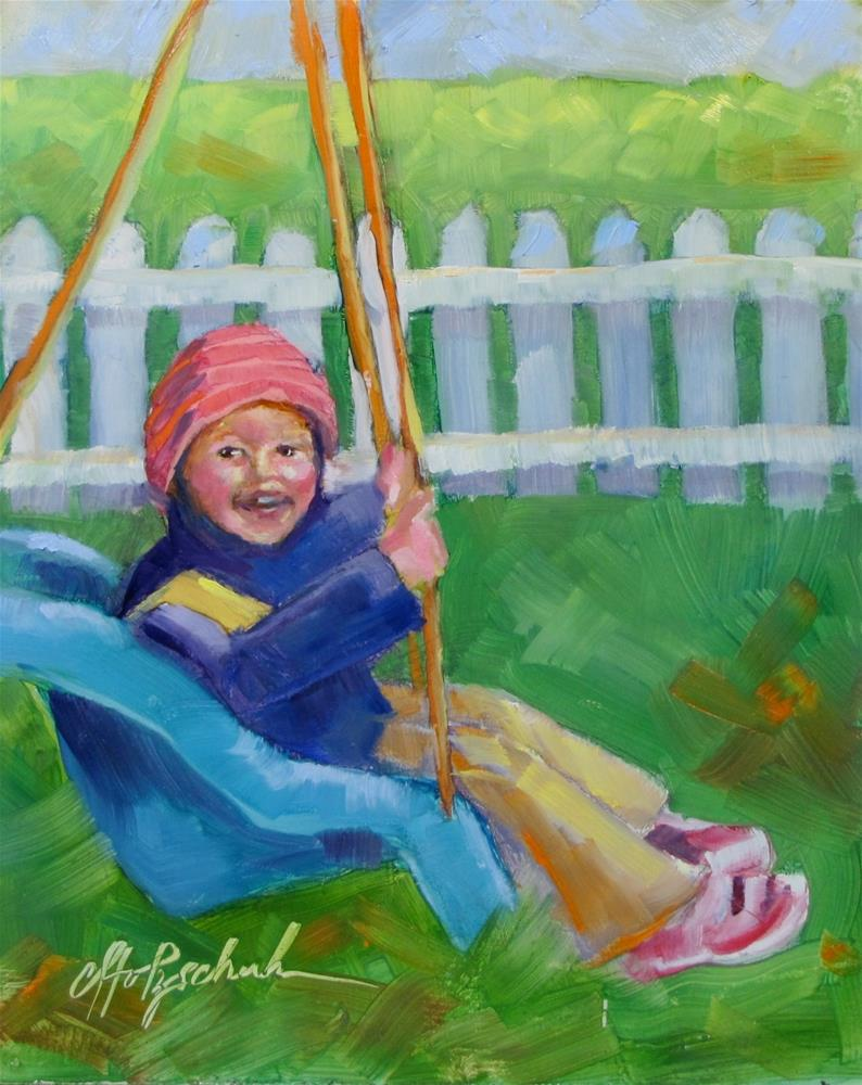 """""""In the Swing of Things"""" original fine art by Christine Holzschuh"""