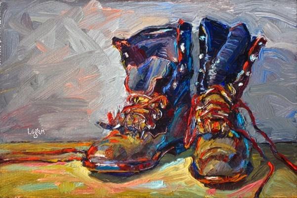 """J's Other Ropers"" original fine art by Raymond Logan"