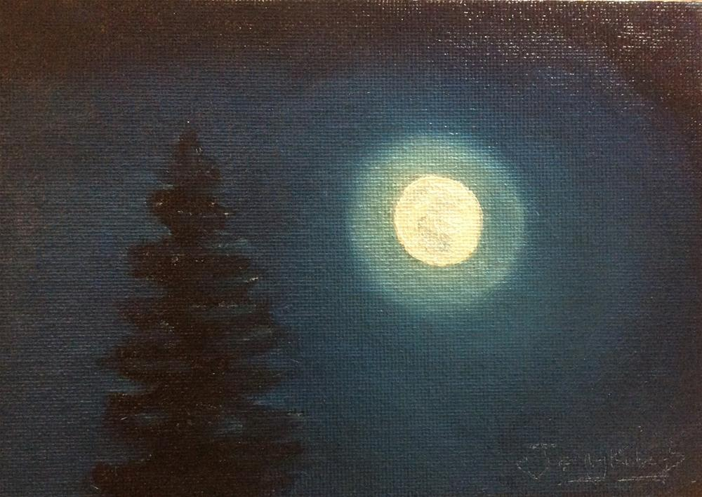 """Moonrise"" original fine art by Jenny Kinberg"