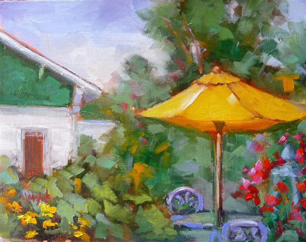 """""""Secret Garden"""" original fine art by Carol Josefiak"""