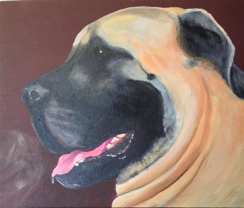 """English Mastiff"" original fine art by Michelle Wolfe"
