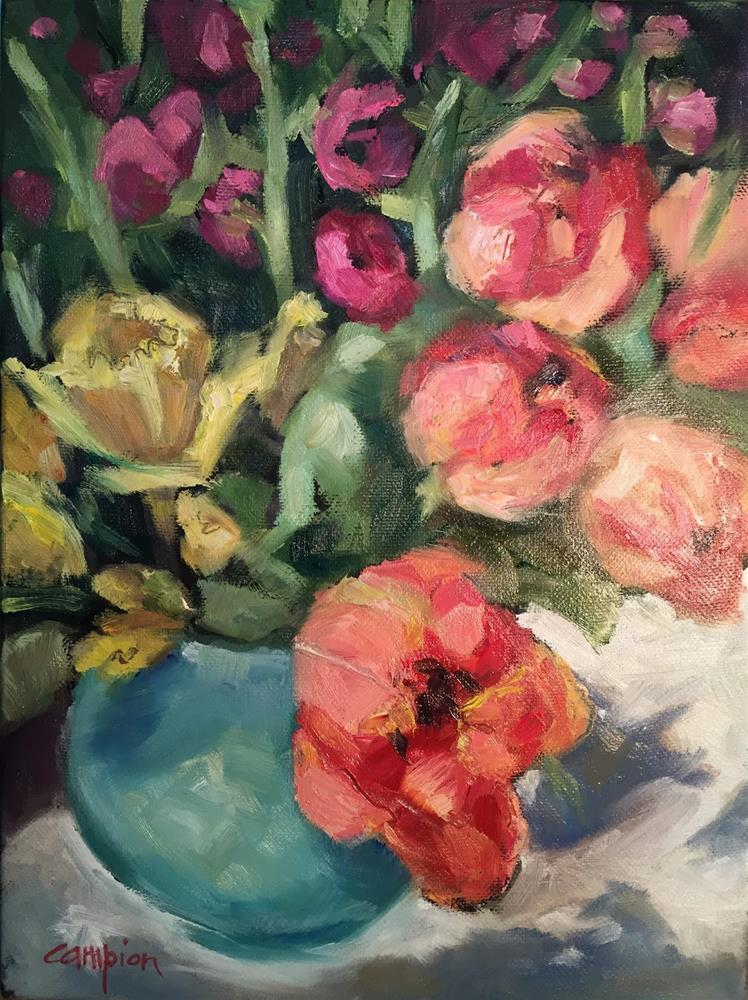"""776 Thinking Spring"" original fine art by Diane Campion"