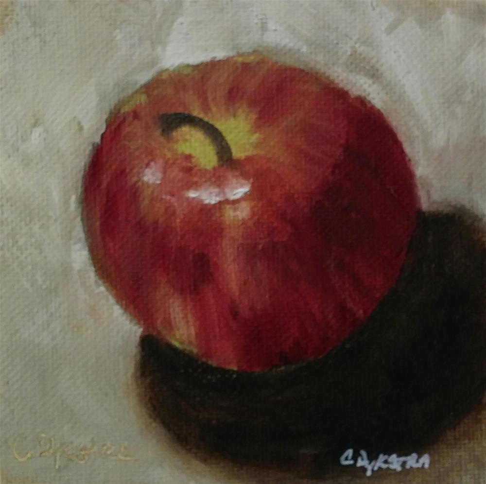 """""""Sweet Apple"""" original fine art by Cathy Dykstra"""