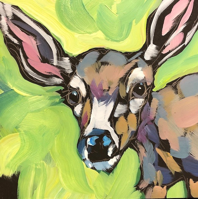 """Wise Eyes"" original fine art by Kat Corrigan"
