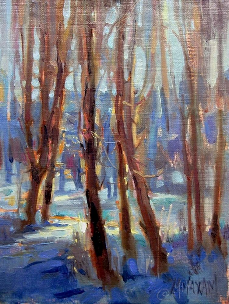 """Blue On Blue"" original fine art by Mary Maxam"