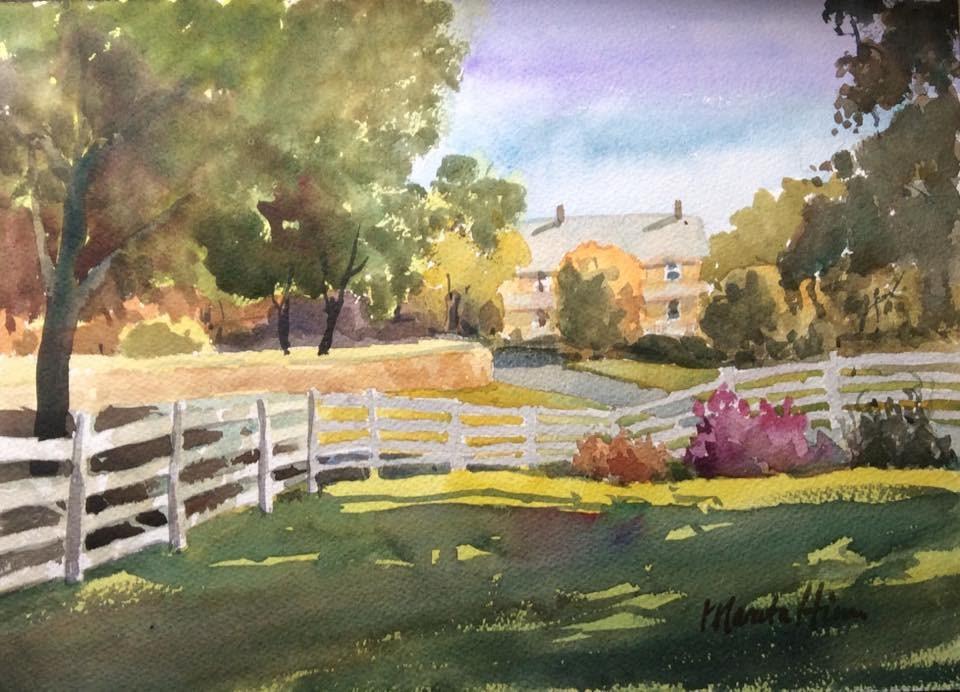 """Autumn Light"" original fine art by Marita Hines"