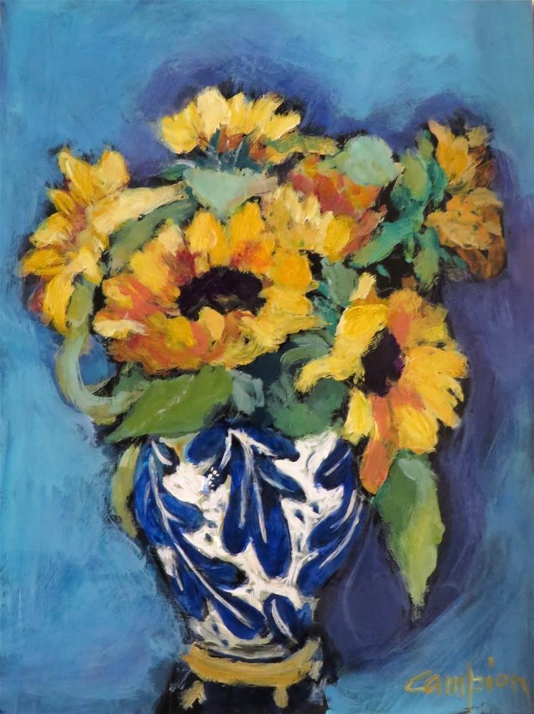 """""""906 Market Sunflowers"""" original fine art by Diane Campion"""