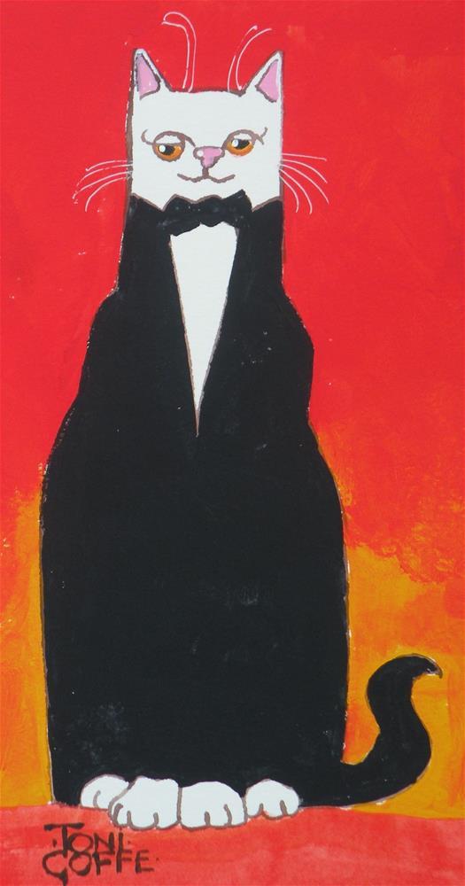 """A  Social Event"" original fine art by Toni Goffe"