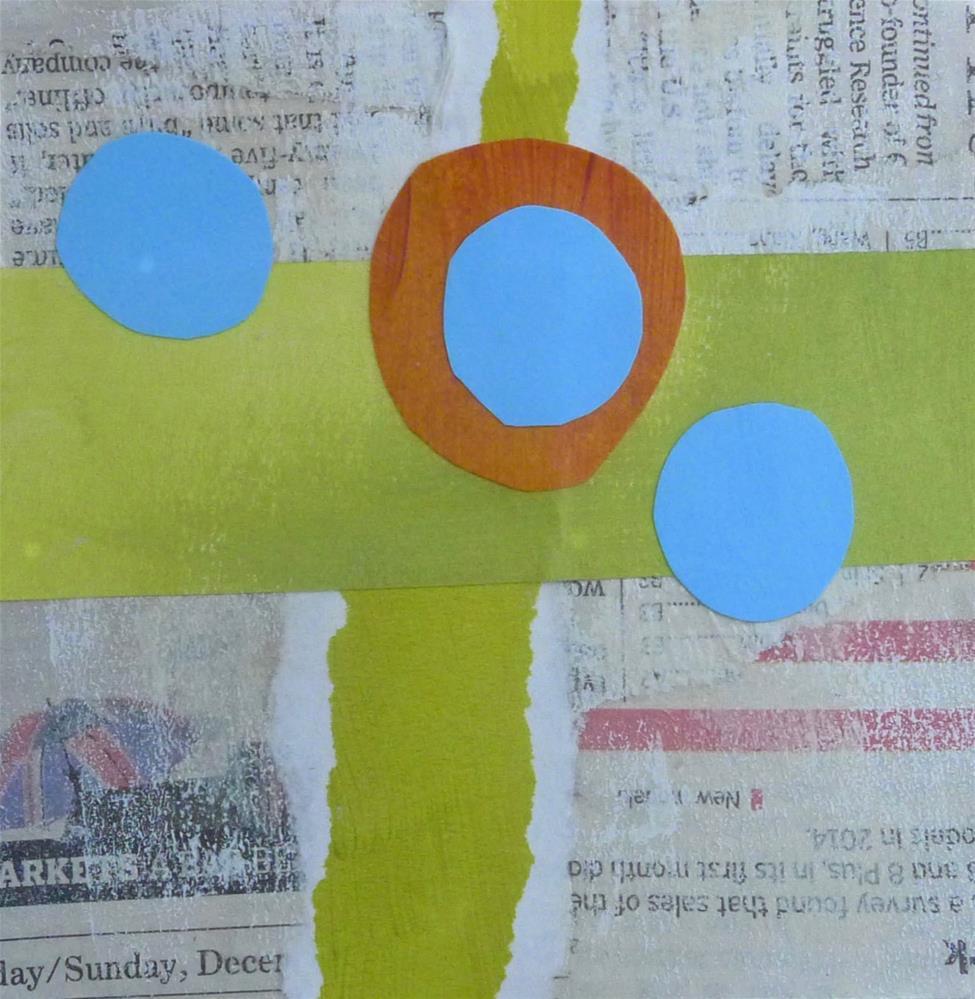 """COLLAGE No. 4"" original fine art by Linda Popple"