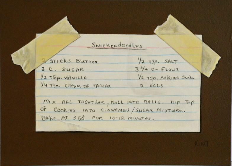 """Snickerdoodles Recipe"" original fine art by Kim Testone"