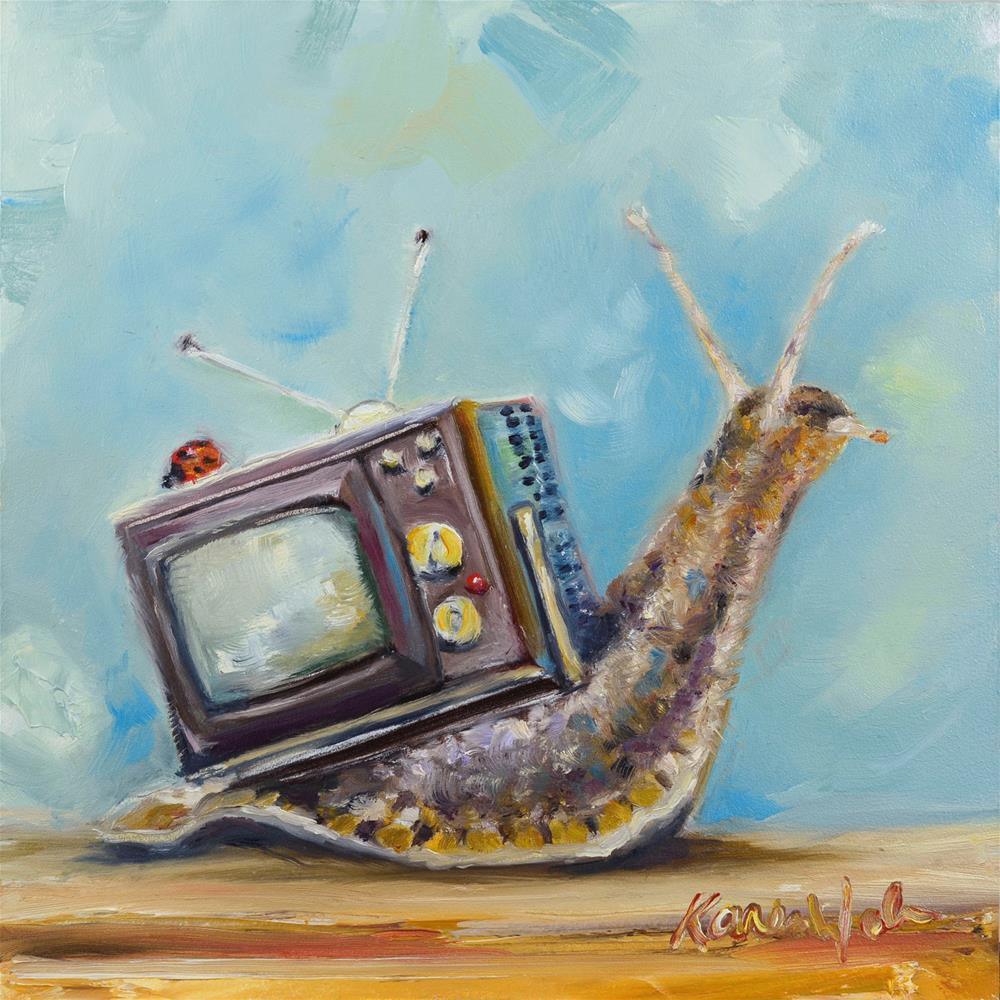 """""""Solid State Chromacolor"""" original fine art by Karen Weber"""