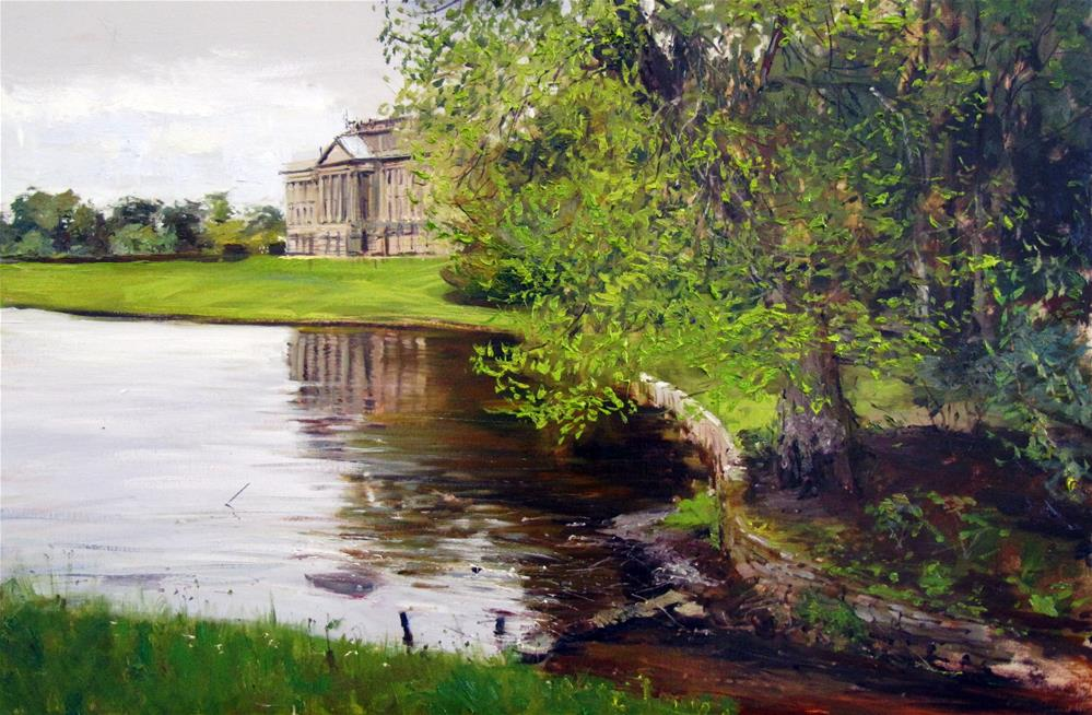 """Reflections on a Grey Day, Lyme Park"" original fine art by Adebanji Alade"