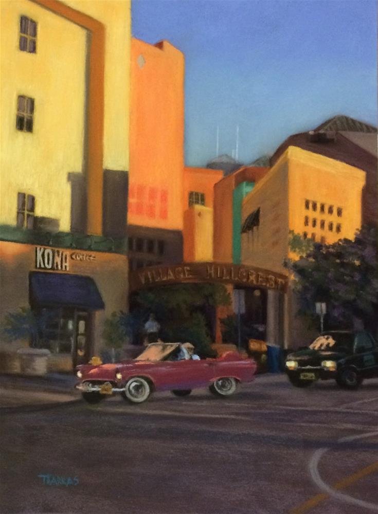 """Night on the Town"" original fine art by Christina Karras"