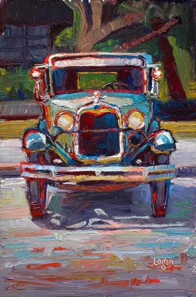 """""""1929 Ford Model A"""" original fine art by Raymond Logan"""