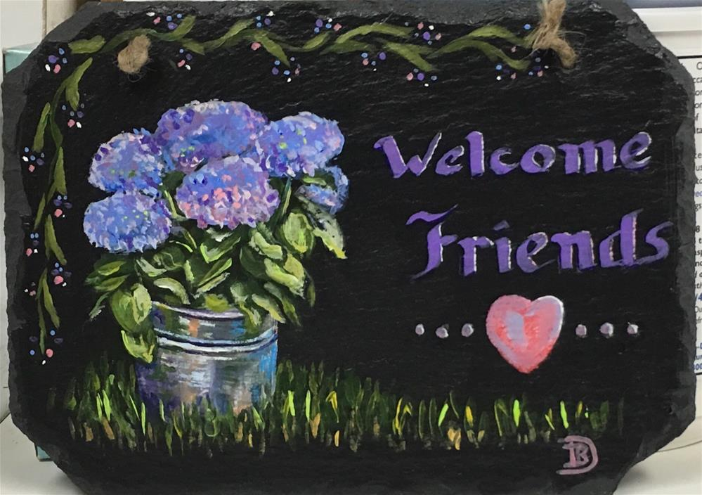 """Welcome Friends"" original fine art by Bobbie Deuell"