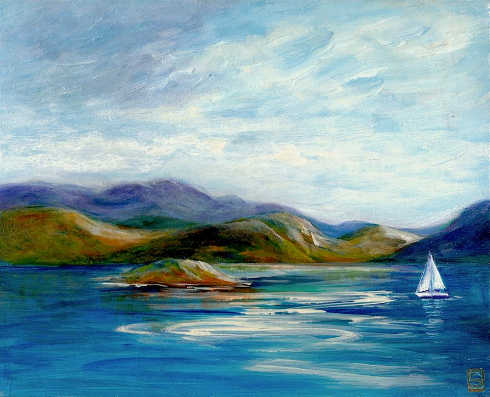 """6051 - Ogopogos Island"" original fine art by Sea Dean"