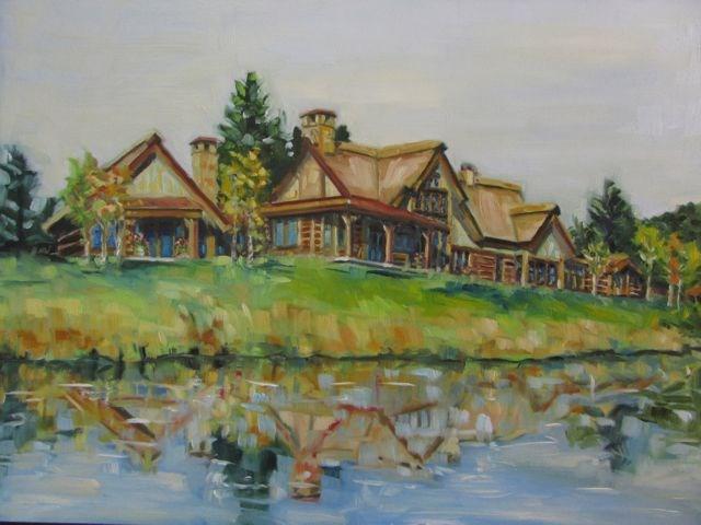 """HOUSE PORTRAIT"" original fine art by Mb Warner"
