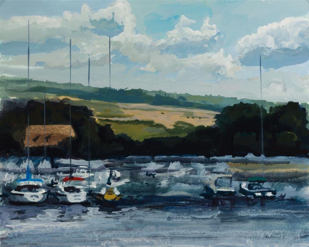 """Watkins Glen Boat Harbor"" original fine art by Chris Breier"