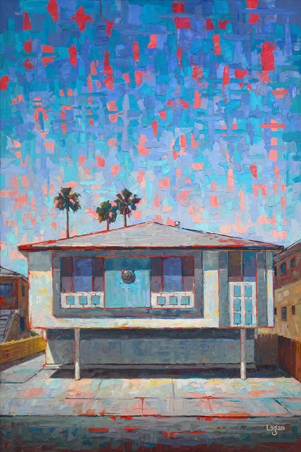 """The Mar Vista Apts"" original fine art by Raymond Logan"