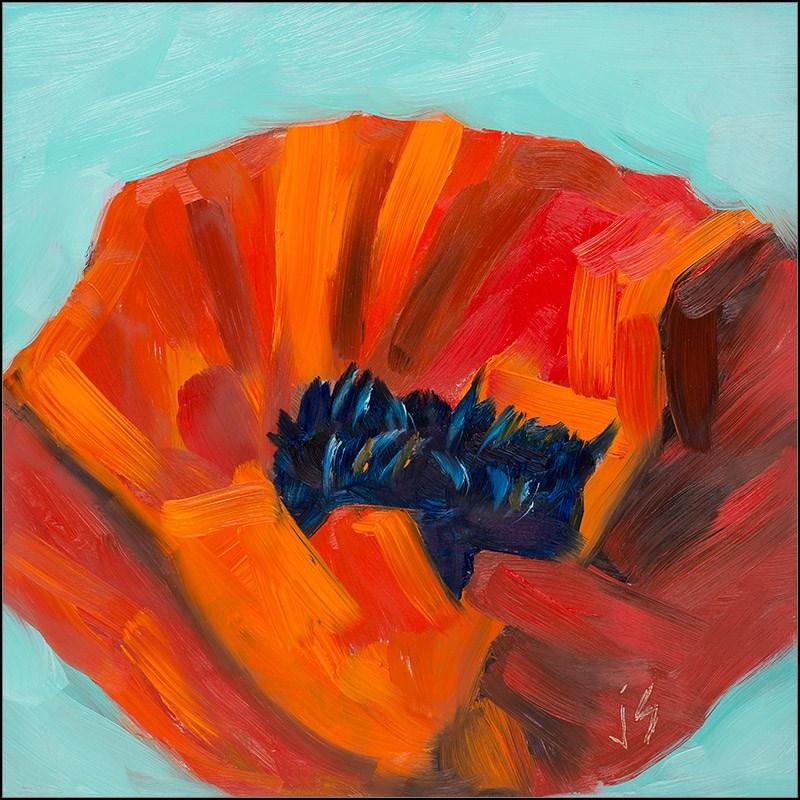 """""""Poppy - Warm / Cool Challenge"""" original fine art by Johnna Schelling"""
