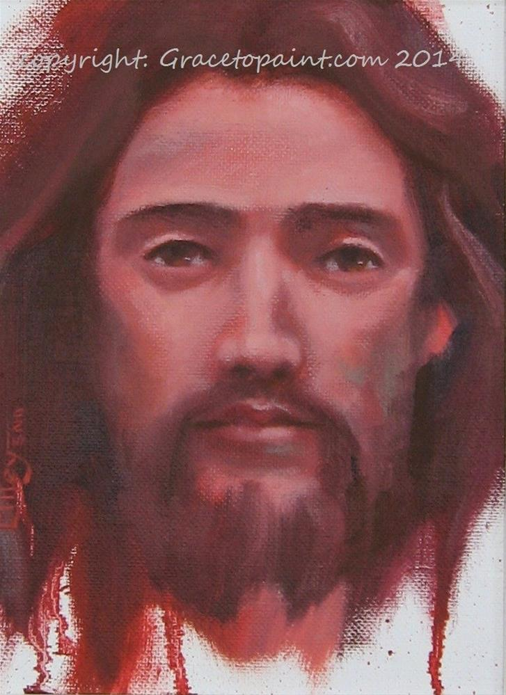 """Jesus"" original fine art by Maresa Lilley"