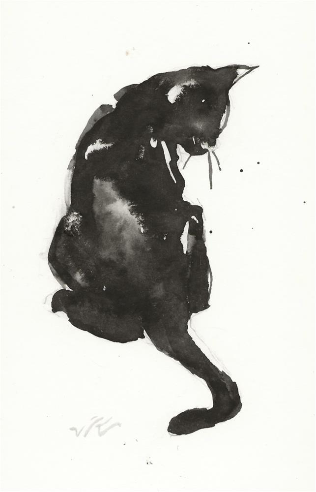 """Daily Cat 66"" original fine art by Jean Krueger"