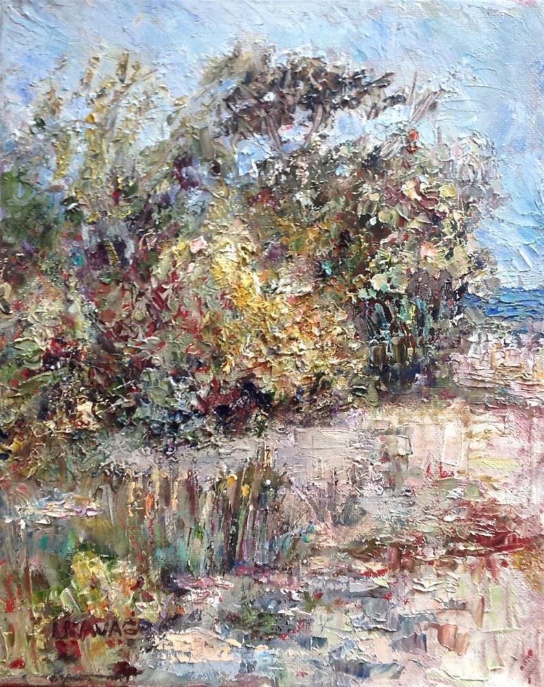 """Bunche Beach Scrub"" original fine art by Judy Usavage"