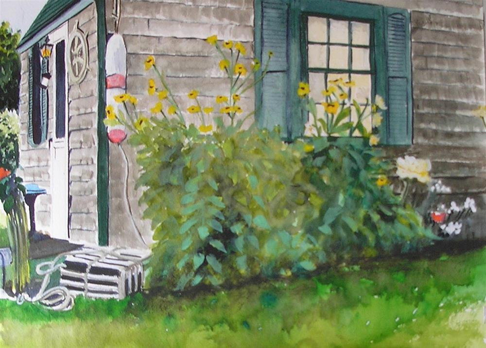 """""""Cottage by the Sea"""" original fine art by Bunny Griffeth"""
