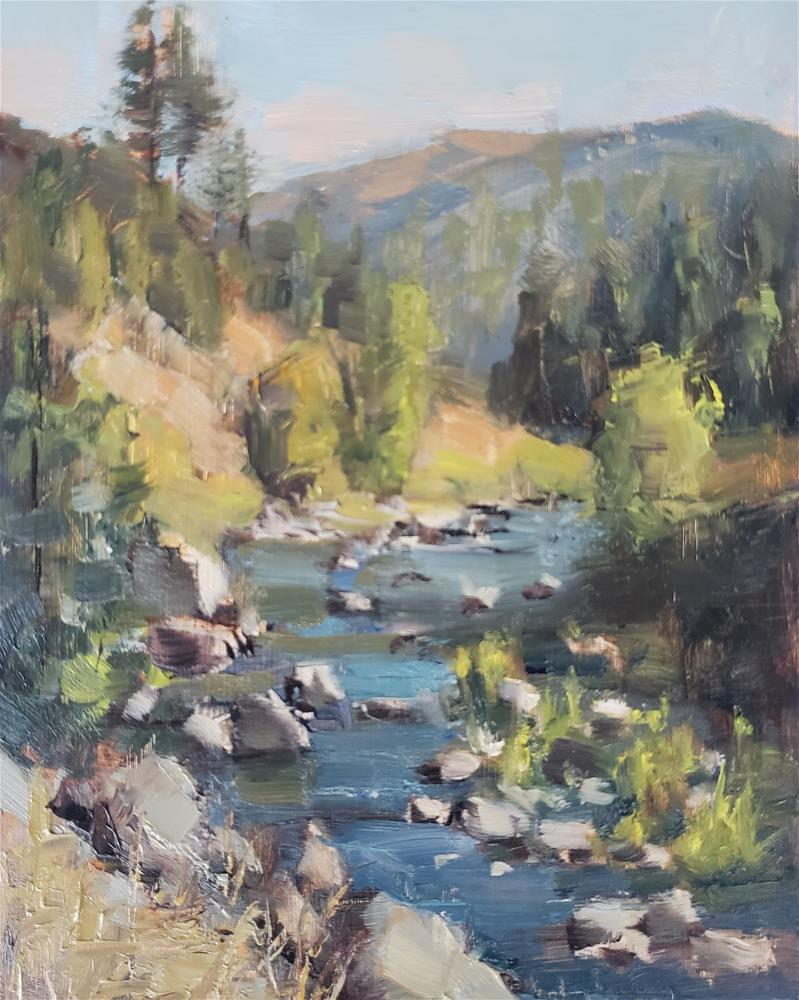 """American River"" original fine art by Barbie Smith"