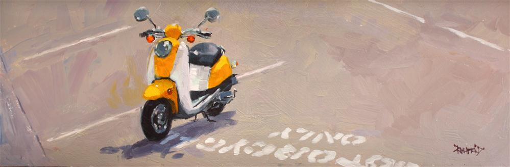 """""""Motorcycles Only"""" original fine art by Cathleen Rehfeld"""