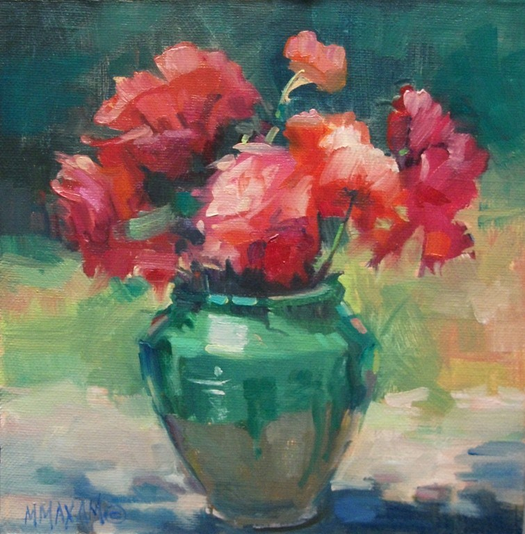 """""""Compliments - more flowers and a color scheme"""" original fine art by Mary Maxam"""